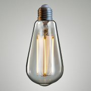 LED TEARDROP / AMBER BU-TD-E27-LEDF-CR-A