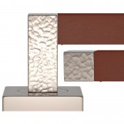 SQUARE STITCH IN RECESS LEATHER HAMMERED HR1021-CN-SN